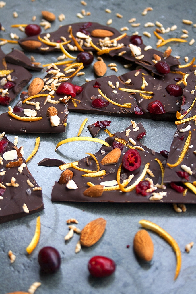 Chocolate bark met de feestdagen